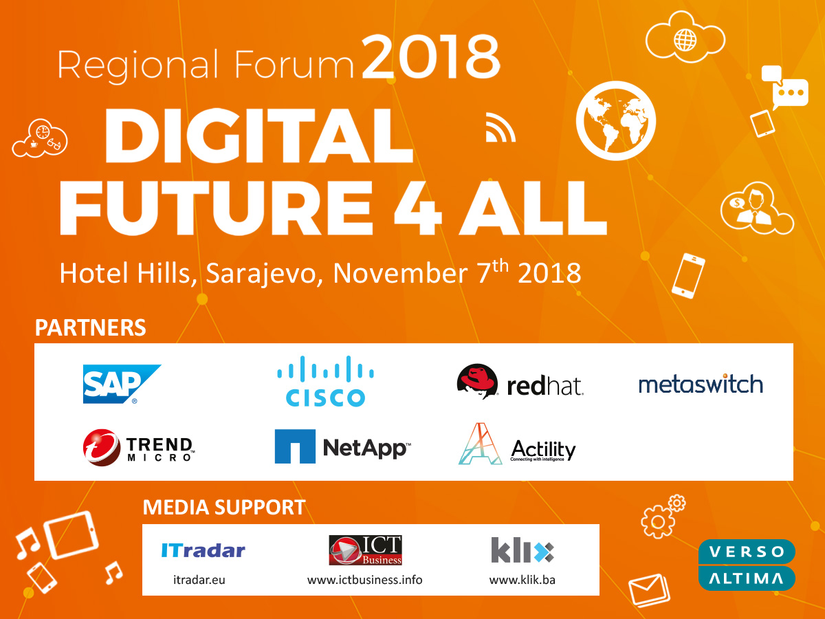 Verso Altima Group Is Organizing Regional Forum On November 7th 2018 As One Of The Most Important Business And Technology Conferences In